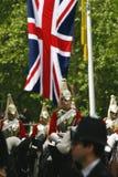 Haushalts-Kavallerie am Geburtstag der Königin führen vor Lizenzfreies Stockbild
