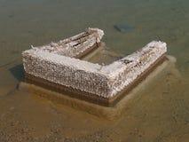 Haushaltsabfall im Toten Meer, Israel Stockfotos