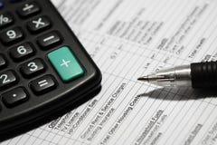 Haushaltsbudgetform G Lizenzfreies Stockfoto