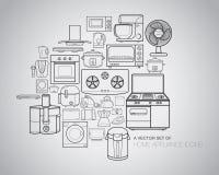 Haushaltsgerät-Ikonen Stockfotografie