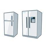 Haushaltsgeräte 1 - Kühlschränke Stockfoto