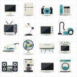 Haushaltsgeräte und Ikonen der elektronischen Geräte Lizenzfreie Stockfotografie
