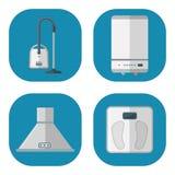 Haushaltsgeräte vector elektrische inländische Technologie der inländischen Hausrat-Küche für Hausarbeitwerkzeuge Lizenzfreies Stockfoto