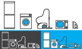Haushaltsgeräte - Vektorikonen Stockfoto