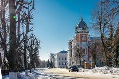Haushaltsinstitution des regionalen Zustandes regionalen Museums Kultur Ulyanovsk der lokalen Überlieferung genannt nach Goncharo stockfotos