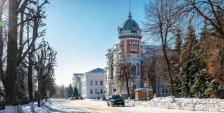 Haushaltsinstitution des regionalen Zustandes regionalen Museums Kultur Ulyanovsk der lokalen Überlieferung genannt nach Goncharo lizenzfreie stockbilder