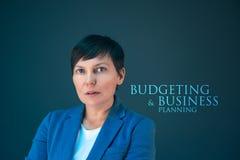 Haushaltsplanung und Unternehmensplanung Lizenzfreies Stockfoto