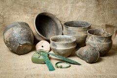 Haushaltswaren des Bronzejahrhunderts lizenzfreies stockbild
