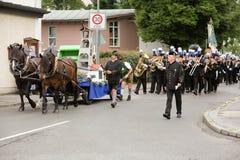 Hausham, Alemania, 07 17 2016: desfile 50 años de cierre de la mina en Hausham Fotografía de archivo libre de regalías