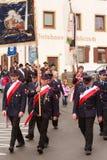 Hausham, Allemagne, 07 17 2016 : reconstitution historique 50 ans de fermeture de mine dans Hausham photo stock