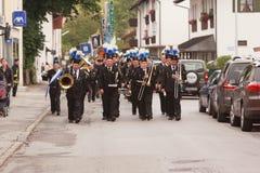 Hausham, Deutschland, 07 17 2016: Festzug 50 Jahre Bergwerkschließung in Hausham Lizenzfreie Stockfotografie