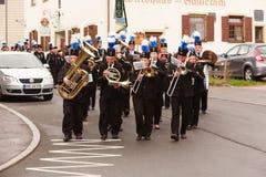 Hausham, Deutschland, 07 17 2016: Festzug 50 Jahre Bergwerkschließung in Hausham Stockfoto