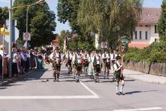 Hausham/Duitsland/Beieren-Bayern-09 Augustus: band Agatharied Stock Foto's