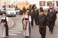 Hausham, Niemcy, 07 17 2016: widowisko 50 rok kopalnianego zamknięcia w Hausham obrazy royalty free