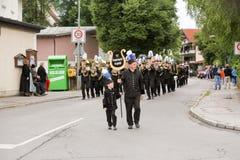 Hausham Tyskland, 07 17 2016: lysande festspel 50 år min stängning i Hausham arkivfoton