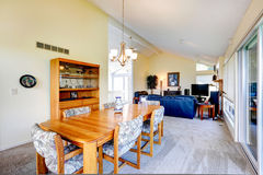 Hausinnenraum mit gewölbter Decke Speiseraum Lizenzfreies Stockbild