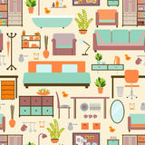 Hausmöbelmuster stock abbildung