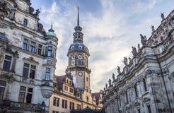 Hausmannsturm (Hausmann tower) of Residenzschloss (Royal Palace) Stock Images