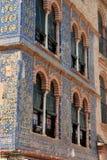Hausmauer mit Fliesen Stockfotografie