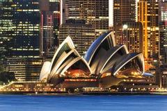 Hausmauerabschluß Sydneys CBD Stockbilder