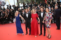 杰西卡Hausner, Ruban Ostlund,玛尔特克勒,狄亚哥・卢纳和塞利娜Sallette 库存图片