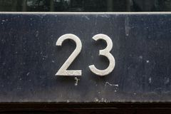 Hausnummer 23 Lizenzfreie Stockbilder