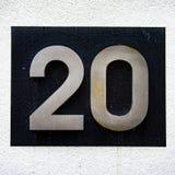 Hausnummer 20 lizenzfreies stockbild