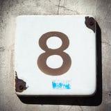 Hausnummer Stockbild