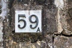 Hausnummer 59 A Lizenzfreies Stockbild