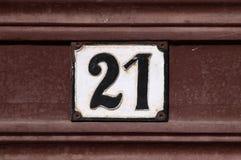 Hausnummer Lizenzfreie Stockfotos