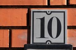 Hausnummer Stockfotografie