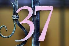 Hausnummer Stockfotos