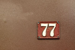Hausnummer Lizenzfreie Stockfotografie