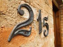 Hausnummer 215 Stockfotos