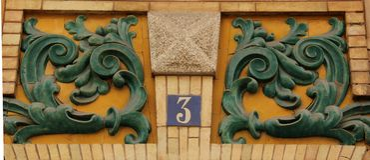 Hausnummer 3 lizenzfreies stockbild
