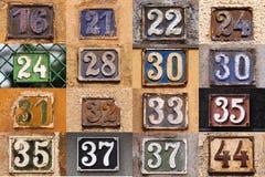 Hausnummer auf einer Wand Lizenzfreies Stockbild