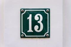 Hausnummer dreizehn 13 Stockbilder