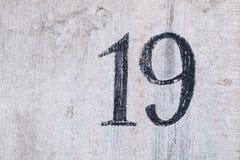 Hausnummer 19 lizenzfreie stockfotografie