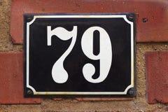 Hausnummer 79 lizenzfreies stockbild