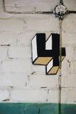 Hausnummer vier eine künstlerische Art Stockfoto