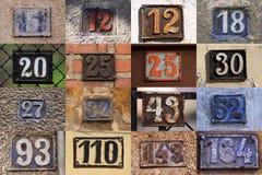Hausnummern Stockfoto