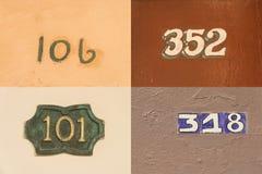Hausnummern in altem Havana #2 Stockbild