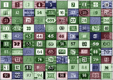 Hausnummern 1 bis 100 Lizenzfreies Stockfoto