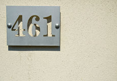 Hausnummern vier Hunderte und sechzig ein 462 vier sechs eins an Lizenzfreies Stockbild