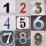 Hausnummersatz Stockfoto