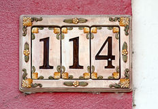 Hausnummerzeichen Lizenzfreies Stockfoto