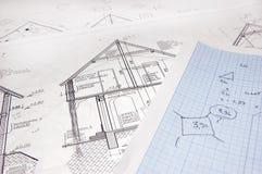 Hausplan Stockbild