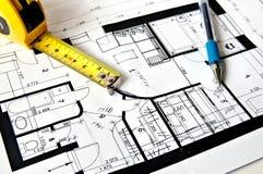 Hausplan Lizenzfreie Stockfotografie