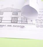 Hausplan Stockfotografie