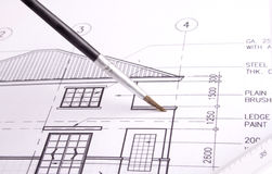 Hausplan Lizenzfreies Stockfoto